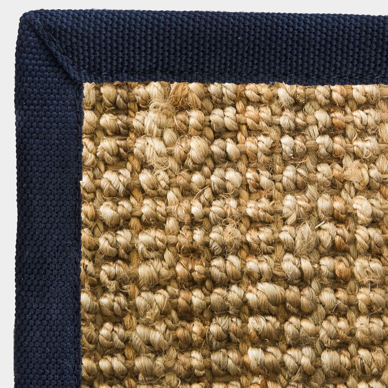 Jute Boucle Rug With Black Border Rebtex